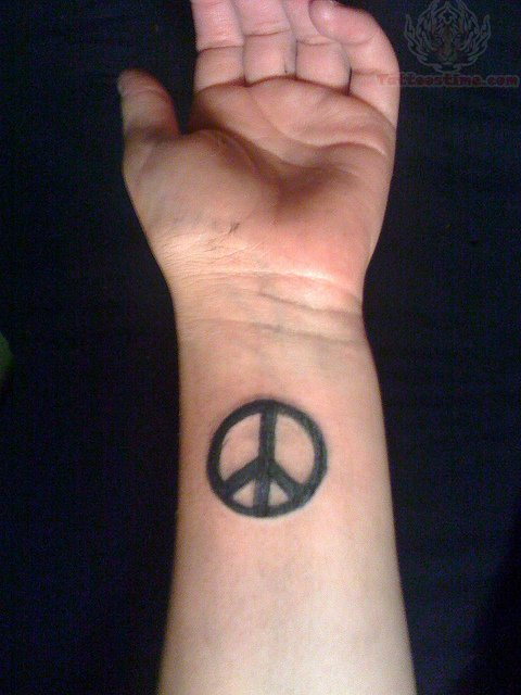 peace sign tattoos on wrist online fonts generator disney