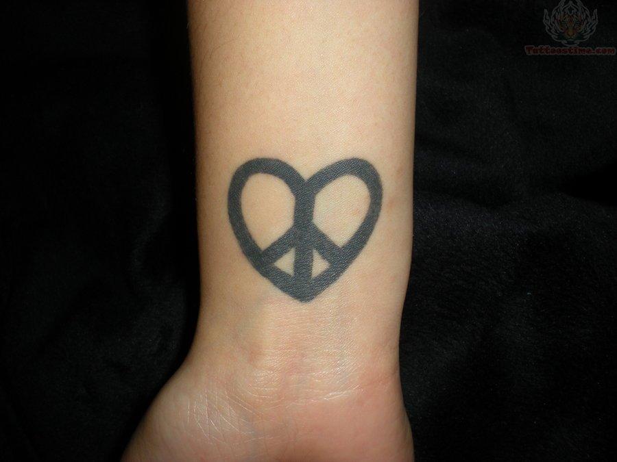 Peace Sign Symbol Tattoo Designs Peace Sign Heart Tattoo