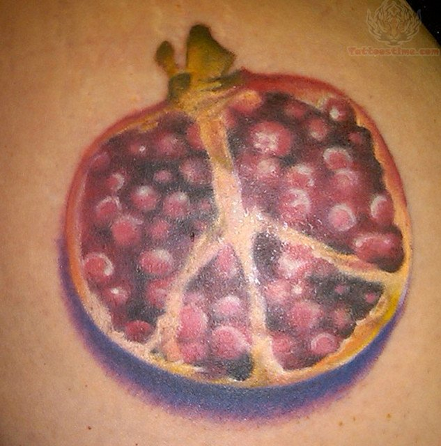 Pomegranate Peace Sign TattooPomegranate Fruit Tattoo