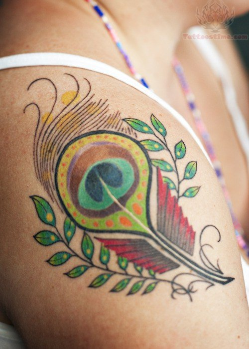 Red peacock tattoo - photo#7
