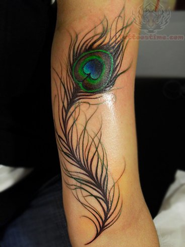 peacock tattoos on arm. Black Bedroom Furniture Sets. Home Design Ideas