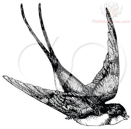 Black And White Swallow Tattoos 9