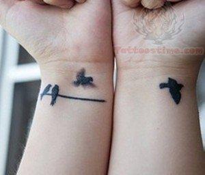 2195a38eb Flying Bird Tattoo On Wrists