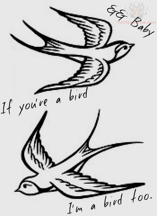 flying swallow birds tattoo design. Black Bedroom Furniture Sets. Home Design Ideas