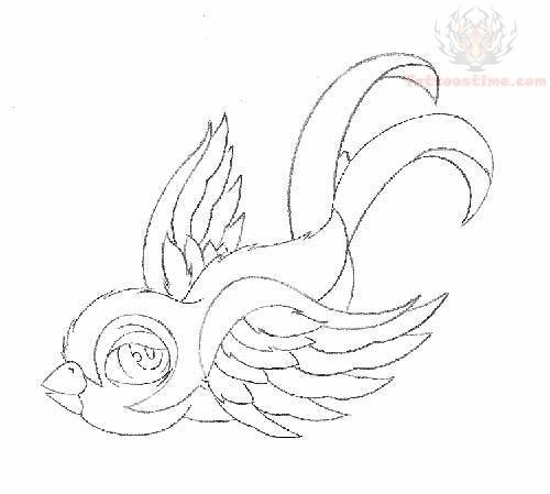 Tattoo Designs Outline: Swallow Outline Tattoo Designs