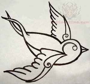 traditional tattoo designs on Traditional Swallow Tattoo Design