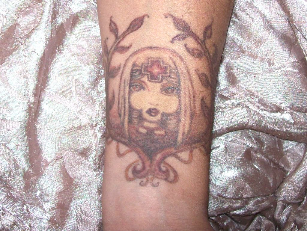 Brown Ink Tattoo: Nurse : Tattoostime Search