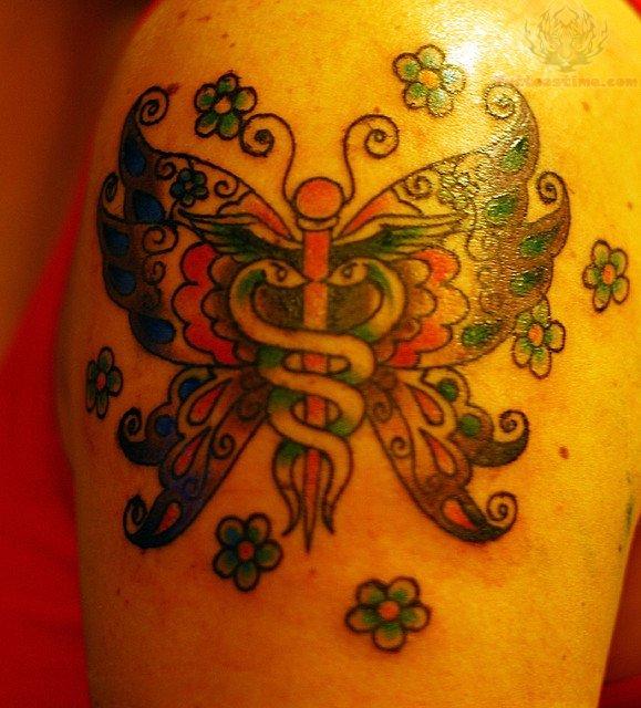 Butterfly Nurse Symbol Tattoo