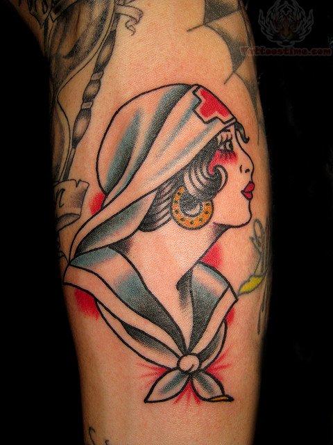 geisha head nurse tattoo. Black Bedroom Furniture Sets. Home Design Ideas