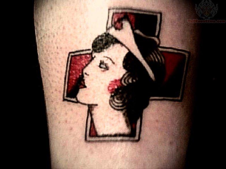 Nurse And Medical Symbol Tattoo