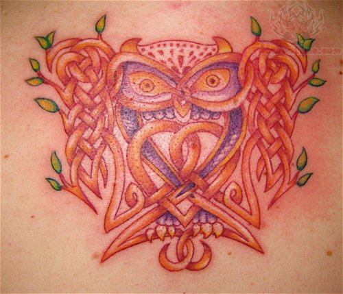 celtic owl tattoo designs. Black Bedroom Furniture Sets. Home Design Ideas