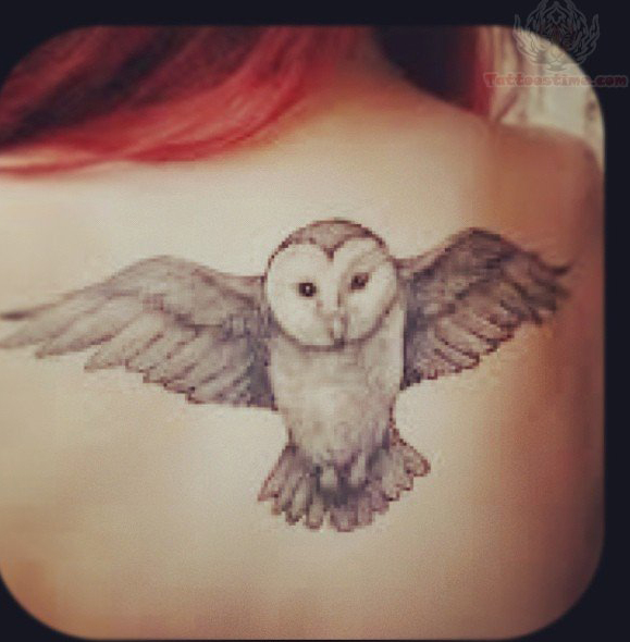 Owl Tattoo Back