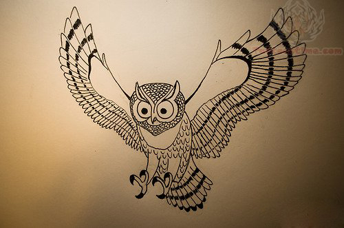 flying owls tattoos rh tattoostime com small flying owl tattoo barn owl flying tattoo