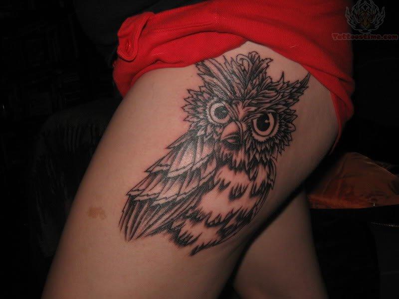 Girl Thigh Tattoos Designs