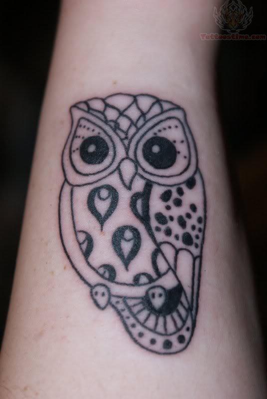 Amazing Owl New Style Tattoo