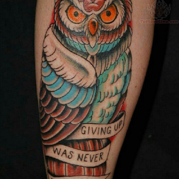 Native american owl tattoos