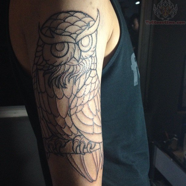 ... com img src http www tattoostime com images 256 half sleeve owl Owl Sleeve Tattoos For Girls