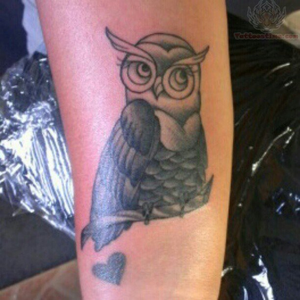 Owl tattoo images designs for Owl heart tattoo