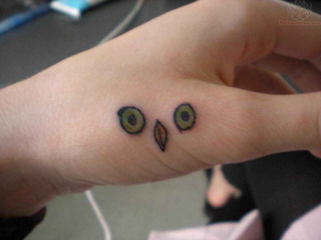 Owl Beak And Eyes Tattoo On  Owl Eyes Tattoo
