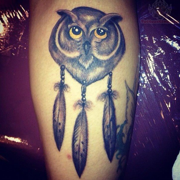 Owl Dreamcatcher Tattoo