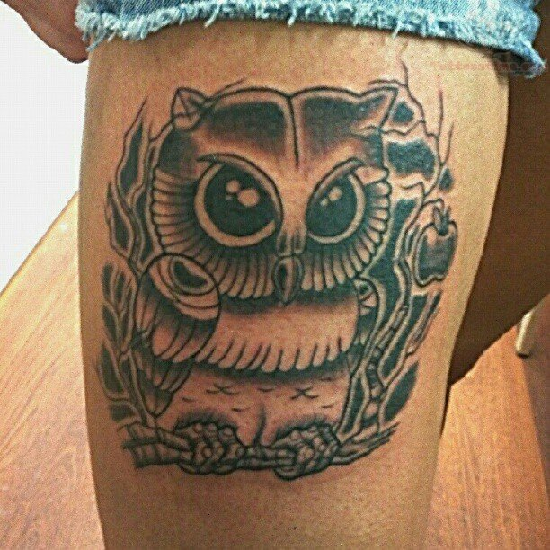 51+ Owl Sitting On Branch Tattoos Ideas