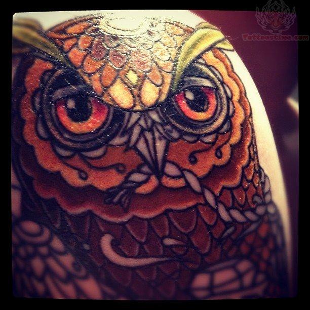 Owl Tattoo Shoulder