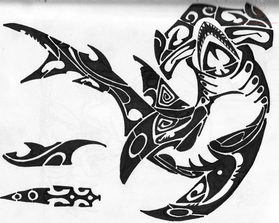 Hammerhead shark tattoo designs - photo#13