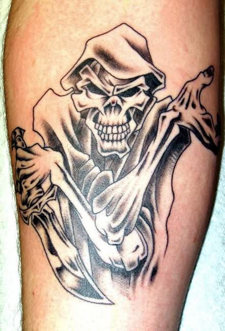 Ghost And Knife Tattoo