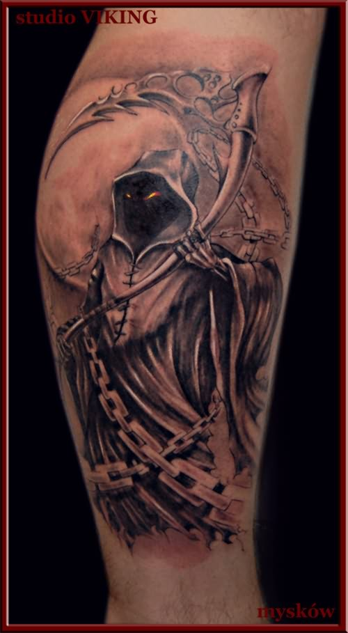 Large Dead Skull Tattoo