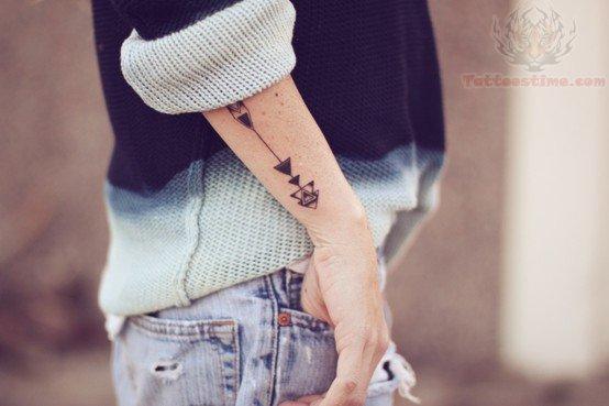 Arrow Tattoo On Back Arm
