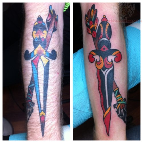 Dagger Arrow Tattoo