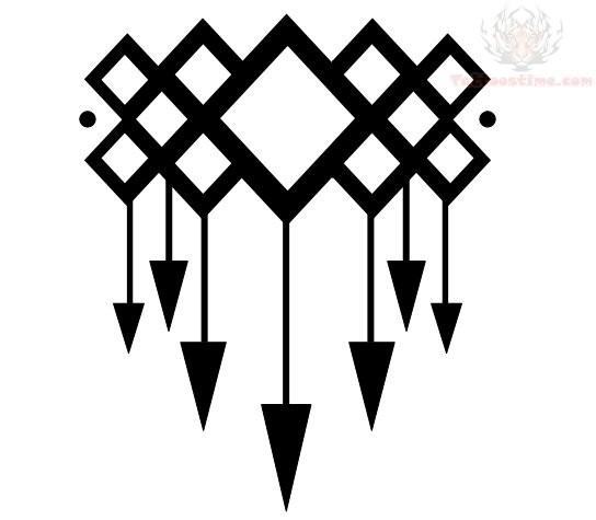 Evil Karma Arrow Tattoo Design