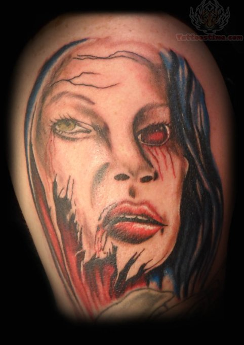 Sorry Lady Scary Tattoo