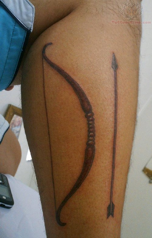 Arrow Tattoo On Leg