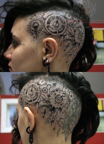 Head Tattoo Girl