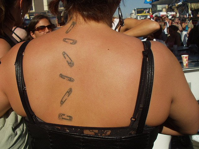 Safety Pin Tattoos Safety Pin Tattoos on