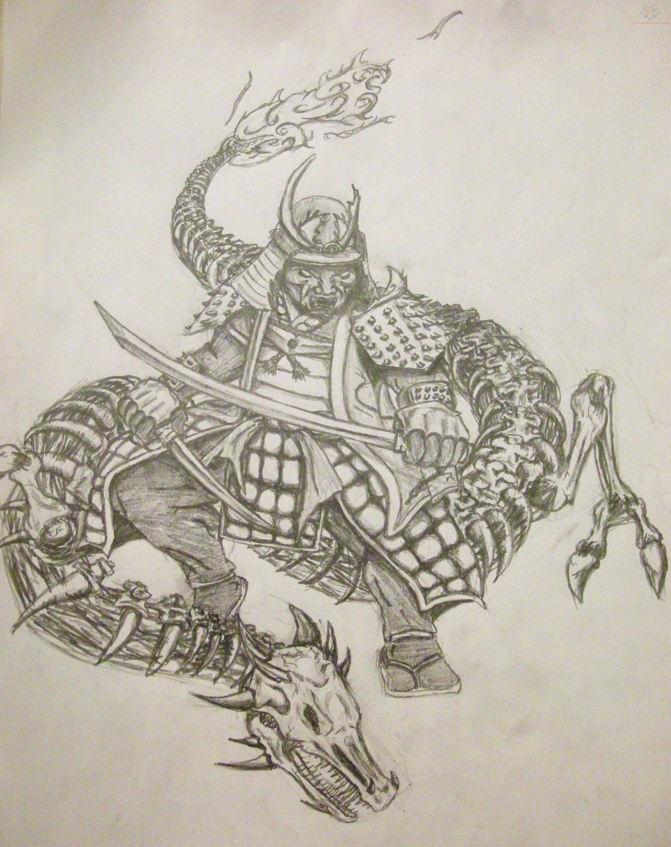 Samurai mask tattoo meaning design site genuardis portal for Dragon and samurai tattoo meaning