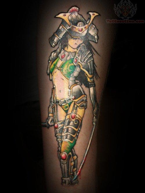 Samurai girl warrior tattoo for Female samurai tattoo