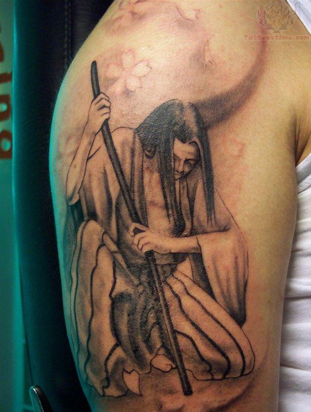 Samurai half sleeve new tattoos for Female samurai tattoo