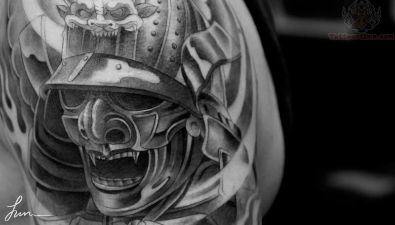 Samurai Warrior Skull Tattoo