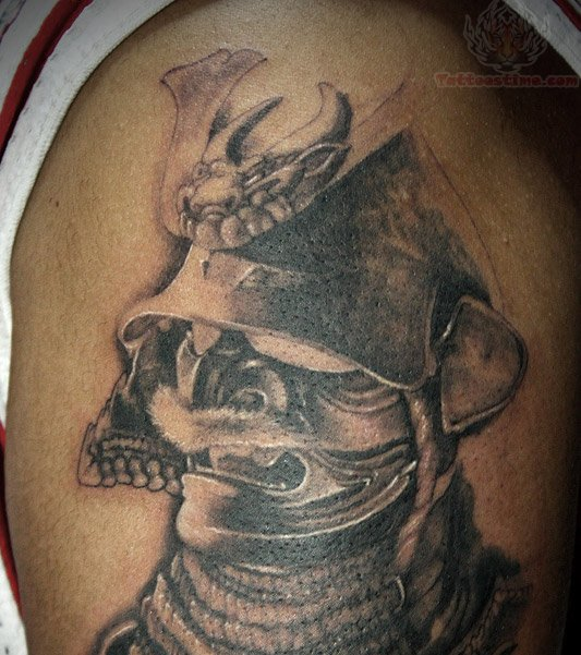 Samurai Skull Tattoo Design