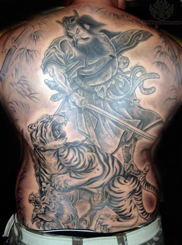 Japanese Samurai Back Tattoos