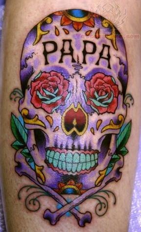 papa sugar skull tattoo. Black Bedroom Furniture Sets. Home Design Ideas