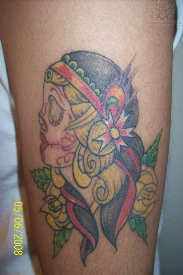 Gypsy Sugar Skull And Flower Tattoo  Gypsy Sugar Sku...