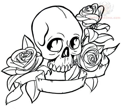 skulls flash tattoo design