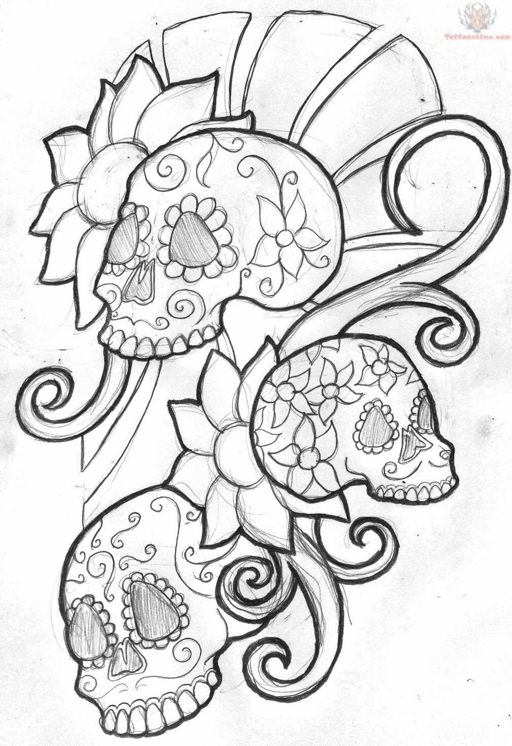 mexican sugar skull tattoo design. Black Bedroom Furniture Sets. Home Design Ideas
