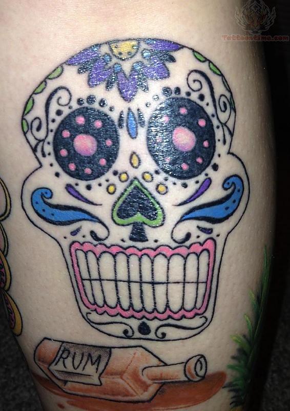 Owl Sugar Skull Tattoo Chest Old School Sugar Skull...