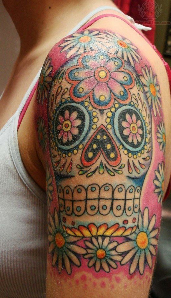 Sugar Skull Tattoo For Girls Covid Outbreak