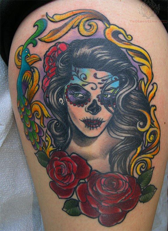 Sugar Skull Tattoo Images Amp Designs