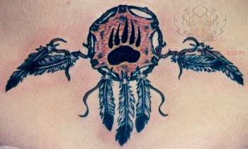 Dream Catcher Tattoo On Lower Back